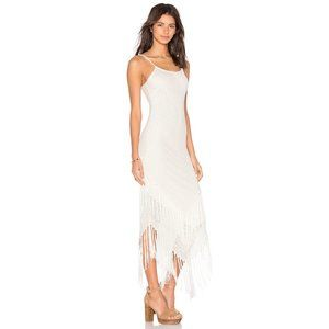 NEW Abba White Fringe Dress Size XS